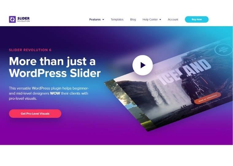 Best WordPress Slider Plugins - Slider revolution